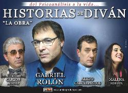 Gabriel rol n presenta historias de divan la obra for Historias de divan sinopsis