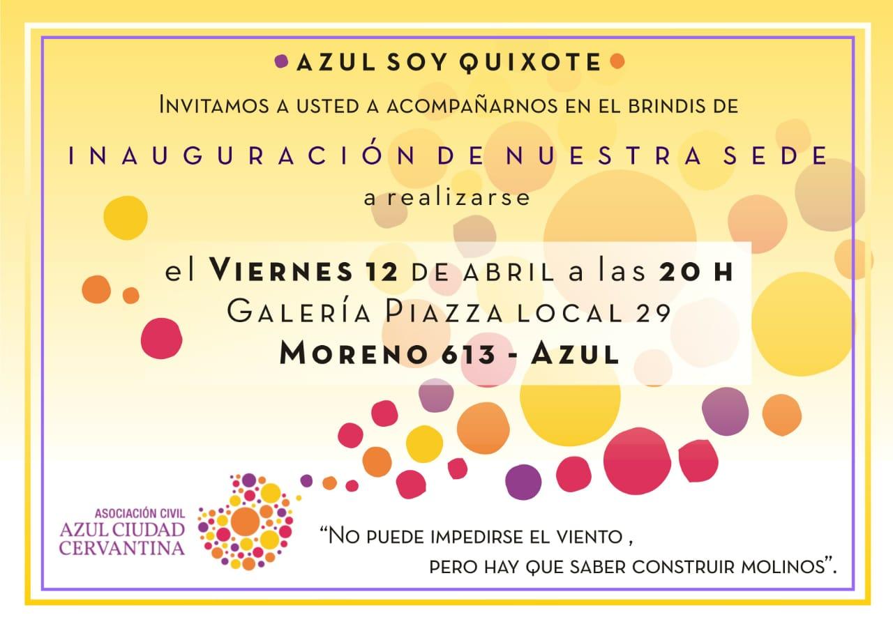 Invitación Inauguración Local Azul Es Cultura